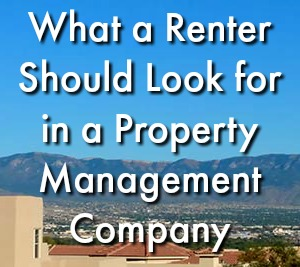 What a Renter Should Look for in a Property Management Company